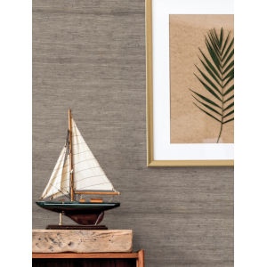 Waters Edge Brown Arrowroot Non Pasted Wallpaper