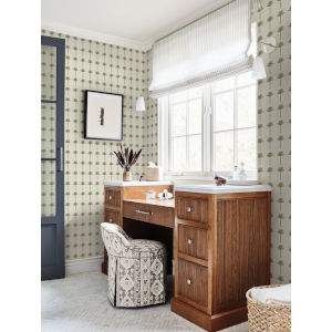 Waters Edge Green Palm Bay Pre Pasted Wallpaper