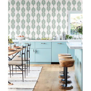 Waters Edge Light Green Broadsands Botanica Pre Pasted Wallpaper