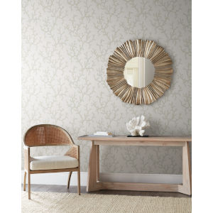 Waters Edge White Coral Island Non Pasted Wallpaper