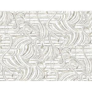 Conservatory Gray and White Flamingo Flamboyance Wallpaper