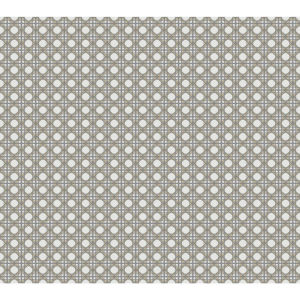 Conservatory Gold and Gray Rattan Overlay Lattice Wallpaper