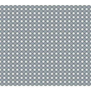 Conservatory Gray Rattan Overlay Lattice Wallpaper