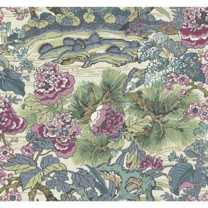 Conservatory Plum Dynasty Floral Branch Wallpaper