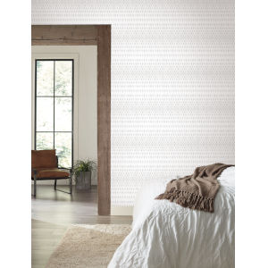 Simply Farmhouse Gray and White Diamond Ombre Wallpaper