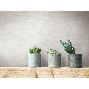 Simply Farmhouse White Silk Linen Weave Wallpaper