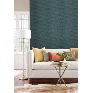 Geometric Resource Library Teal Labyrinth Wallpaper