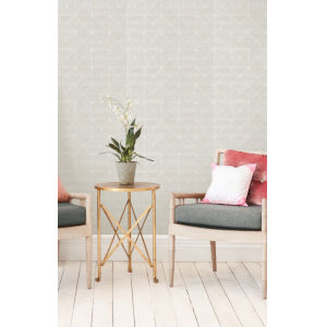 Geometric Resource Library Silver Dazzling Diamond Sisal Wallpaper