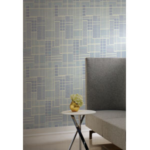 Geometric Resource Library Blue Remodel Wallpaper