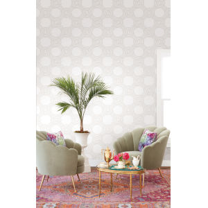 Geometric Resource Library Beige the Twist Wallpaper