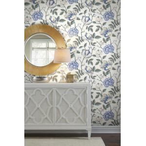 Grandmillennial White Morning Garden Pre Pasted Wallpaper