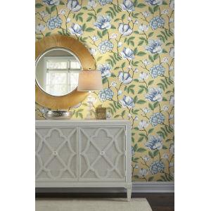 Grandmillennial Yellow Morning Garden Pre Pasted Wallpaper