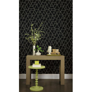 Grandmillennial Gray Pathways Pre Pasted Wallpaper