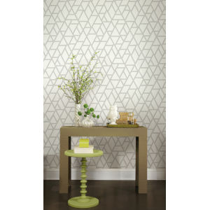 Grandmillennial White Gray Pathways Pre Pasted Wallpaper