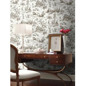 Grandmillennial Brown Seasons Toile Pre Pasted Wallpaper