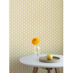 Grandmillennial Yellow Leaf Pendant Pre Pasted Wallpaper