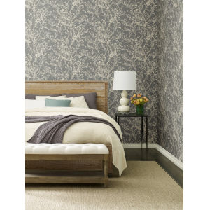 Ronald Redding Handcrafted Naturals Brown Budding Branch Silhouette Wallpaper
