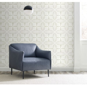 Ronald Redding Handcrafted Naturals Gray and White Roulettes Wallpaper