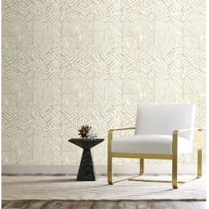 Ronald Redding Handcrafted Naturals Neutral Tribal Print Wallpaper