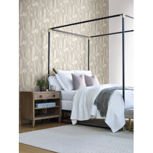 Ronald Redding Handcrafted Naturals Neutrals Sculpture Garden Wallpaper