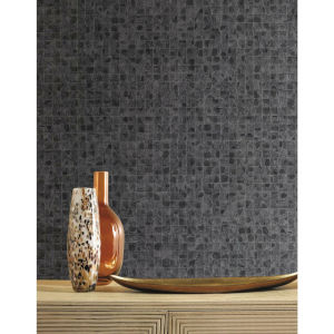 Ronald Redding Gray Leather Lux Non Pasted Wallpaper