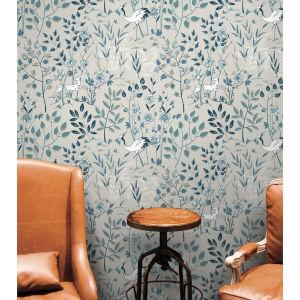 Ronald Redding Gray Aspen Non Pasted Wallpaper