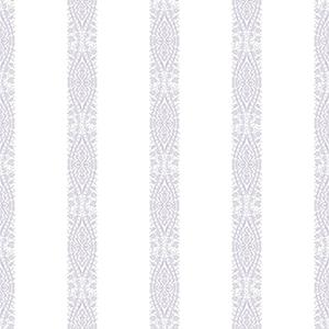 A Perfect World Pearl and Purple Ballerina Stripe Wallpaper