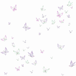 A Perfect World Purple Watercolor Butterflies Wallpaper