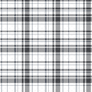 A Perfect World Black and Silver Polka Dot Plaid Wallpaper