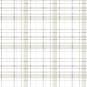 A Perfect World Neutral Polka Dot Plaid Wallpaper