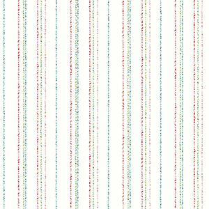 A Perfect World Primary Dotty Stripe Wallpaper