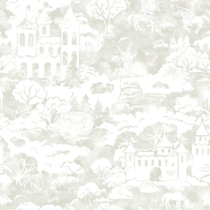A Perfect World Taupe Quiet Kingdom Wallpaper