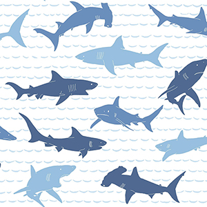 A Perfect World Blues Shark Charades Wallpaper