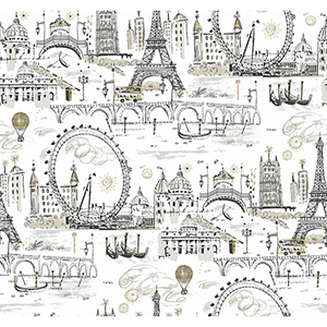 A Perfect World Metallics Novelty Euro Scenic Wallpaper