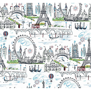 A Perfect World Primary Novelty Euro Scenic Wallpaper