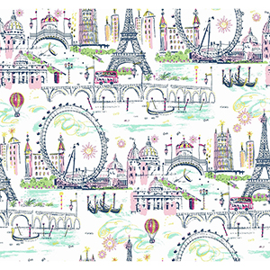 A Perfect World Girly Novelty Euro Scenic Wallpaper