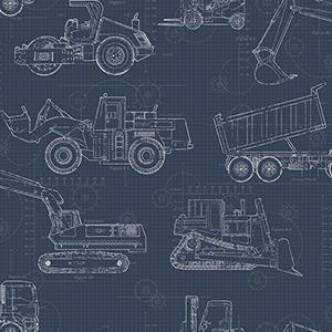 A Perfect World Navy Construction Blueprint Wallpaper