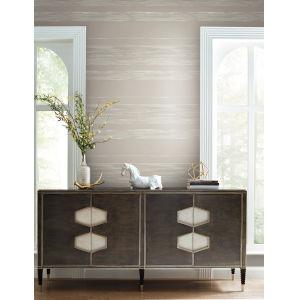 Ronald Redding 24 Karat Taupe Horizontal Dry Brush Wallpaper