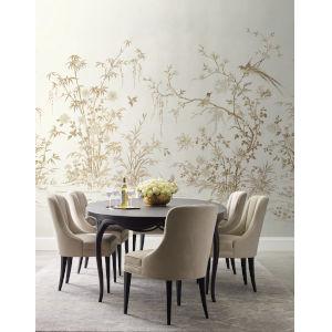 Ronald Redding 24 Karat White Flowering Vine Chino Wallpaper Mural