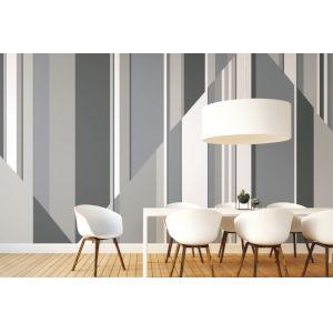 Mural Resource Library Gray Pinwheel Stripe Wallpaper