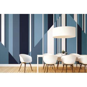 Mural Resource Library Blue Pinwheel Stripe Wallpaper