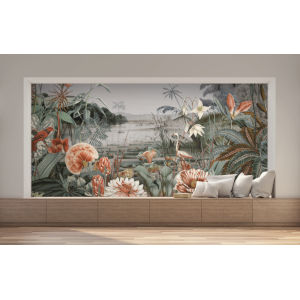 Mural Resource Library Green Floating Gardens Wallpaper