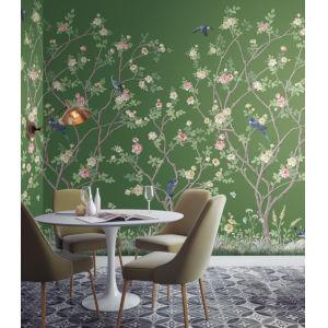 Mural Resource Library Green Lingering Garden Wallpaper