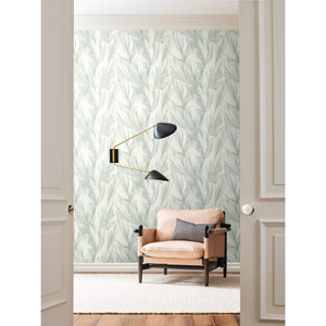 Candice Olson Botanical Dreams Light Blue Peaceful Plume Wallpaper