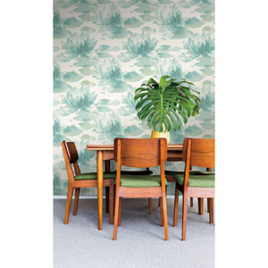 Candice Olson Botanical Dreams Blue Water Lily Wallpaper