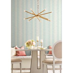 Candice Olson Botanical Dreams Blue Quill Stripe Wallpaper