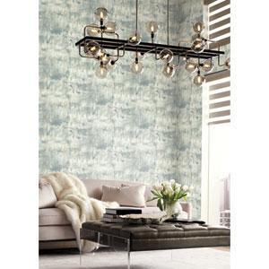 Candice Olson Botanical Dreams Blue Modern Art Wallpaper