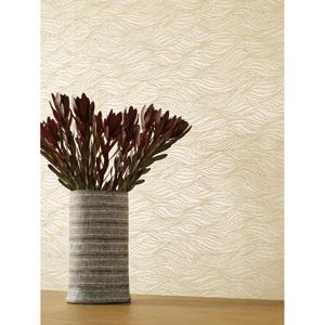 Candice Olson Botanical Dreams Tan Sand Crest Wallpaper