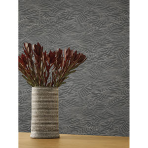 Candice Olson Botanical Dreams Silver Sand Crest Wallpaper
