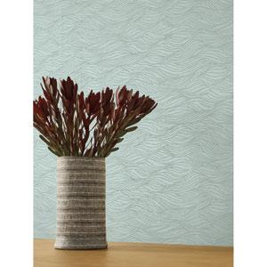 Candice Olson Botanical Dreams Light Blue Sand Crest Wallpaper